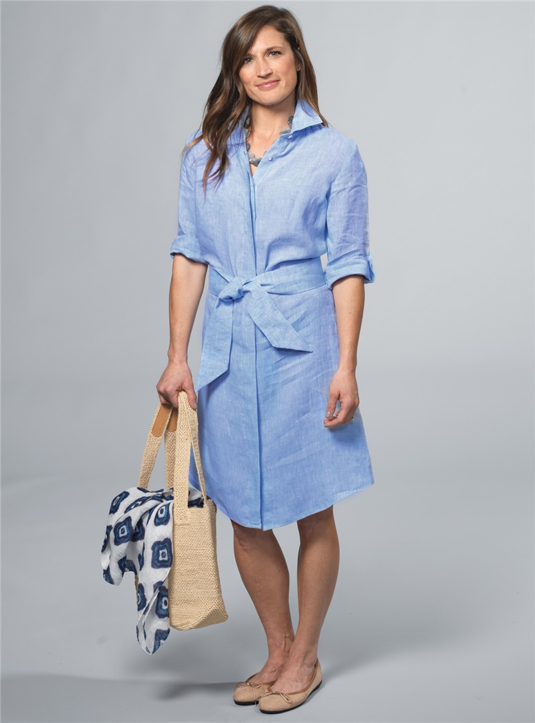 Ladies Linen Shirtdress