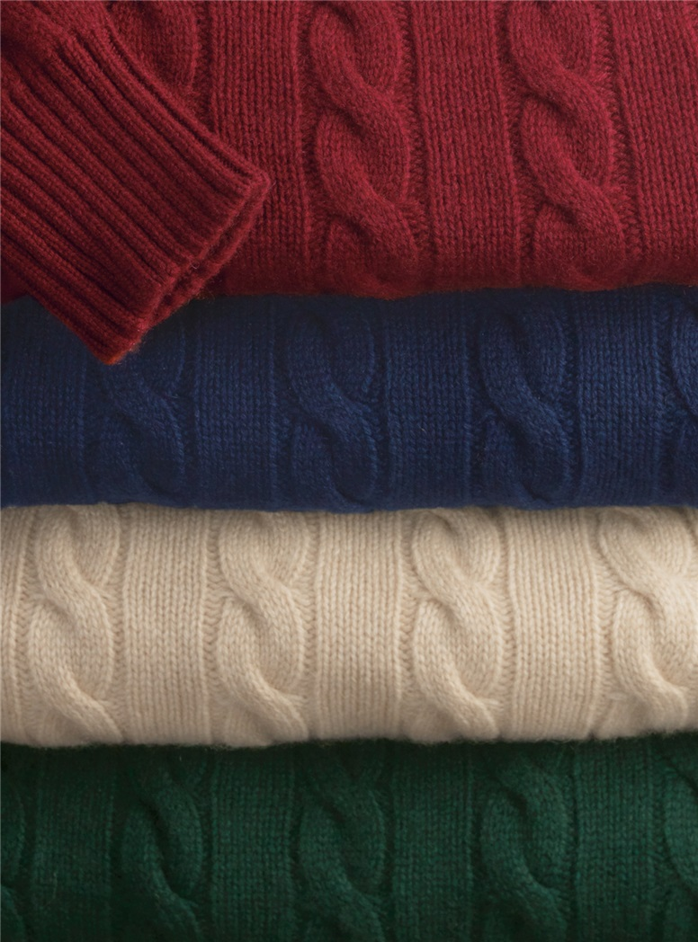 Cashmere Cable-Knit Sweaters