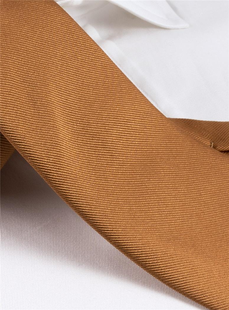 Silk Solid Signature Tie in Bronze