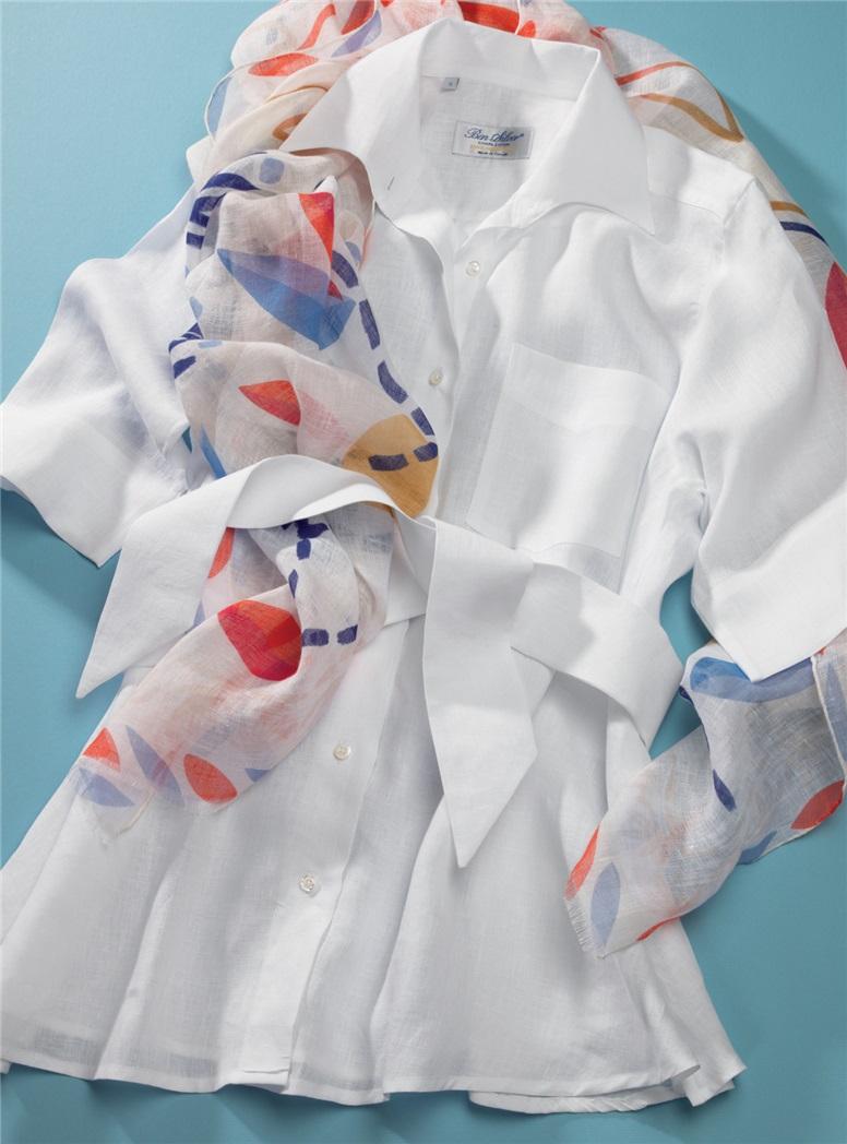 Ladies Linen Flare Tunic