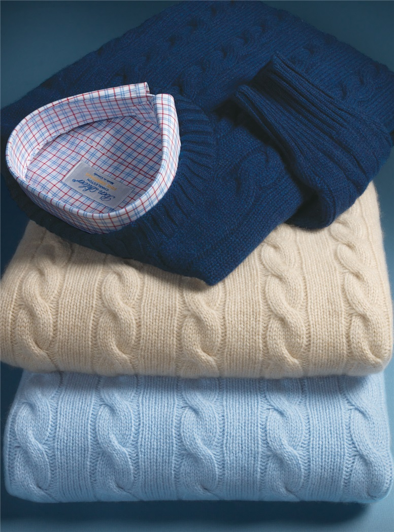 Cashmere Cable Knit Sweaters