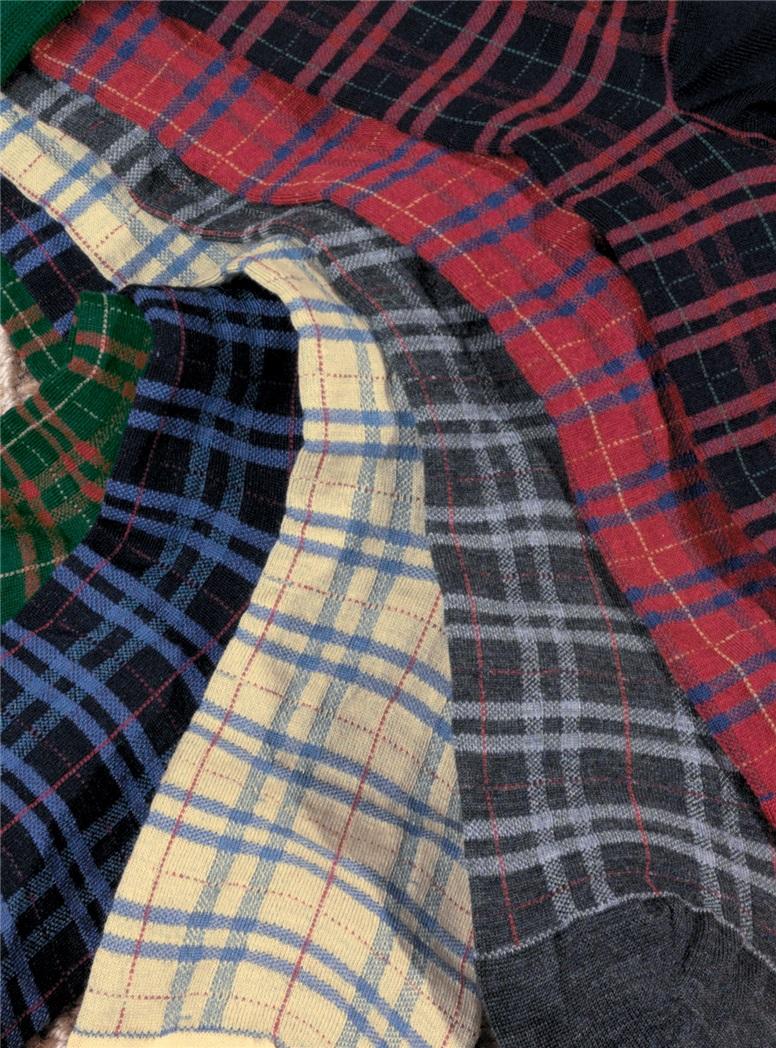 Plaid 85% Wool Socks