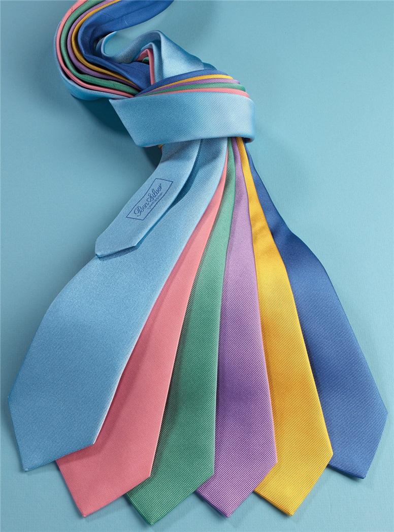 Silk Signature Solid Tie in Rose