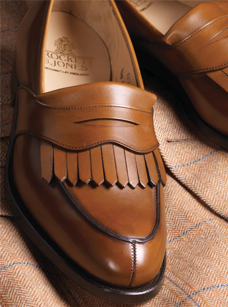 The Sonning Kiltie Loafer in Burnished Tan Calfskin