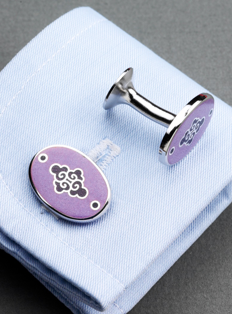 Lilac & Purple Oriental Cufflinks