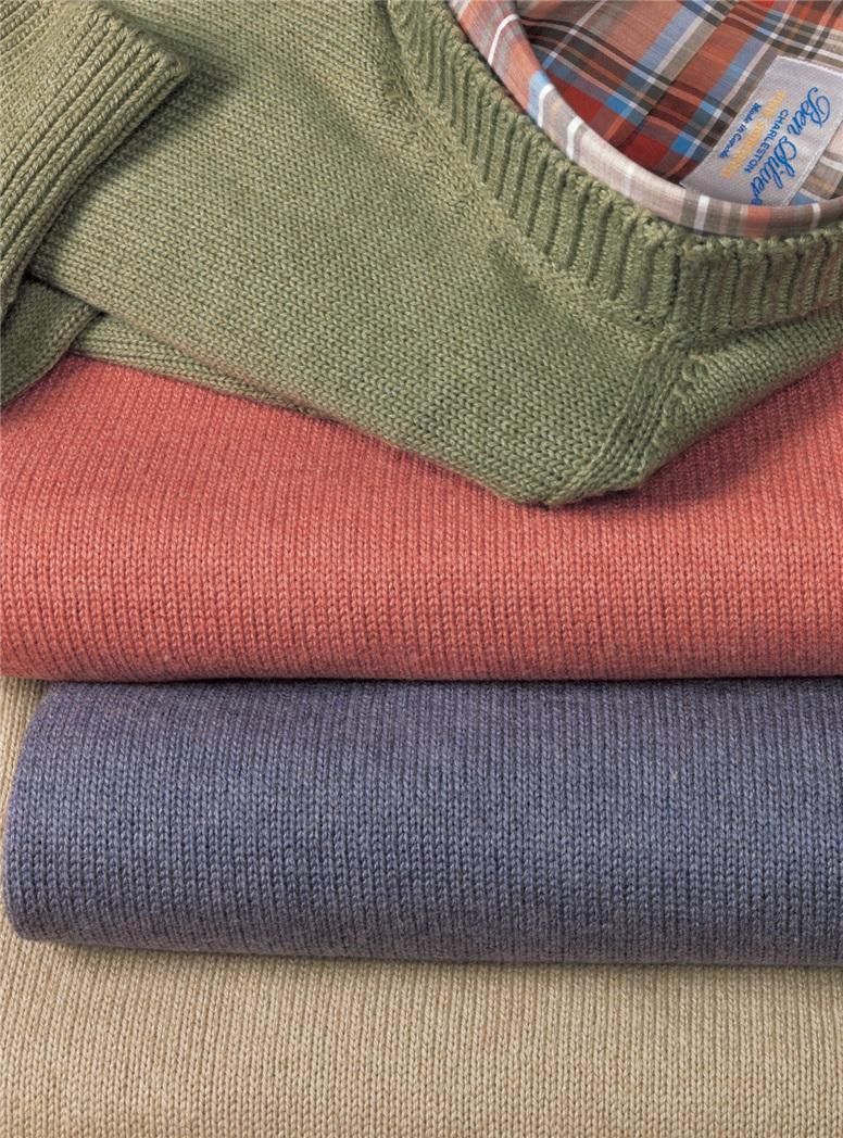 Cotton, Cashmere and Silk Crewneck Sweaters