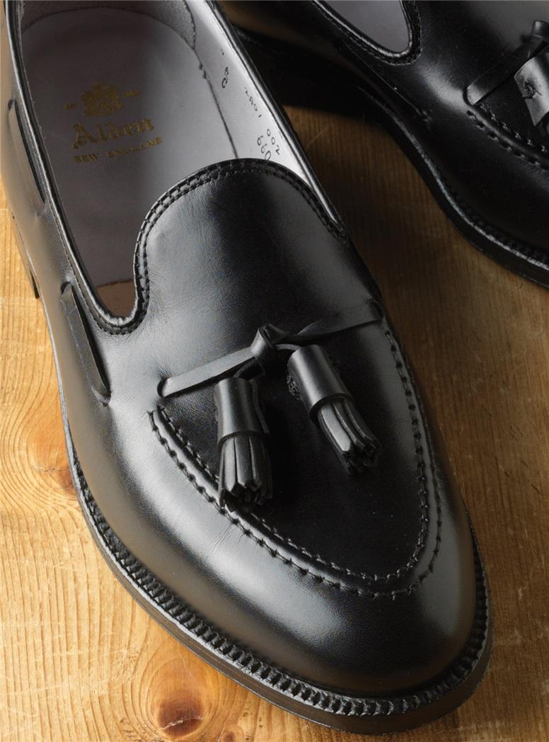 The Alden Tassel Moccasin in Black