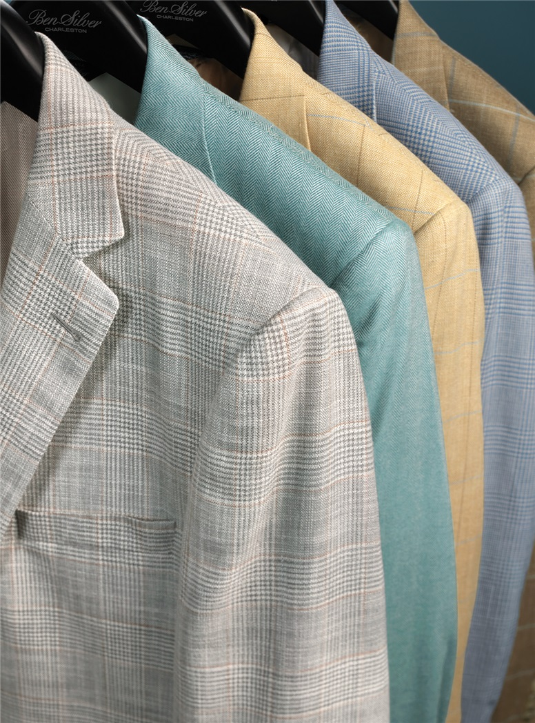 Sand with Blue Windowpane Sport Coat