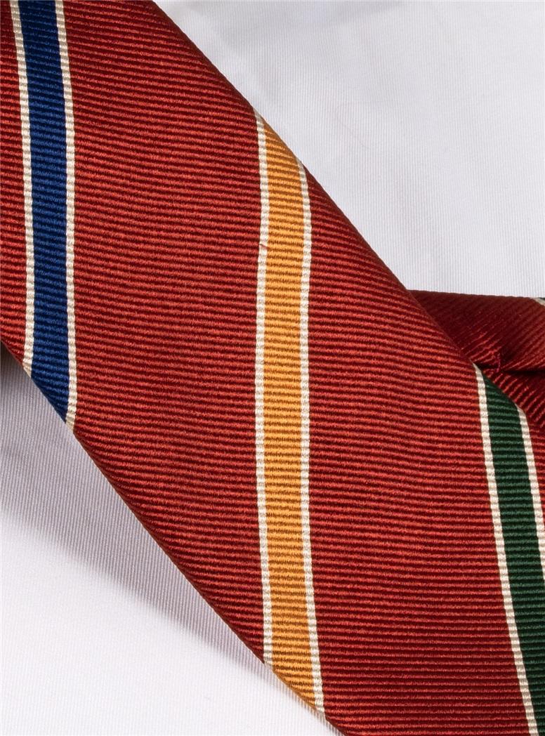Mogador Striped Tie in Ruby