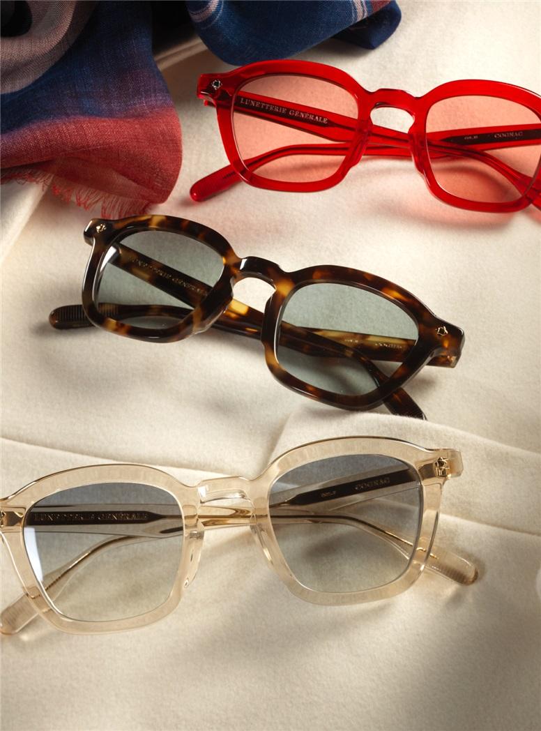 Bold Semi-Round Sunglasses in Dark Tortoise
