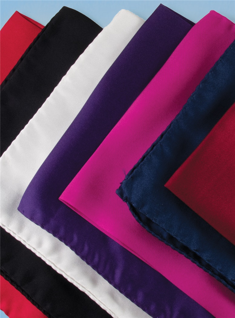 Silk Solid Pocket Squares