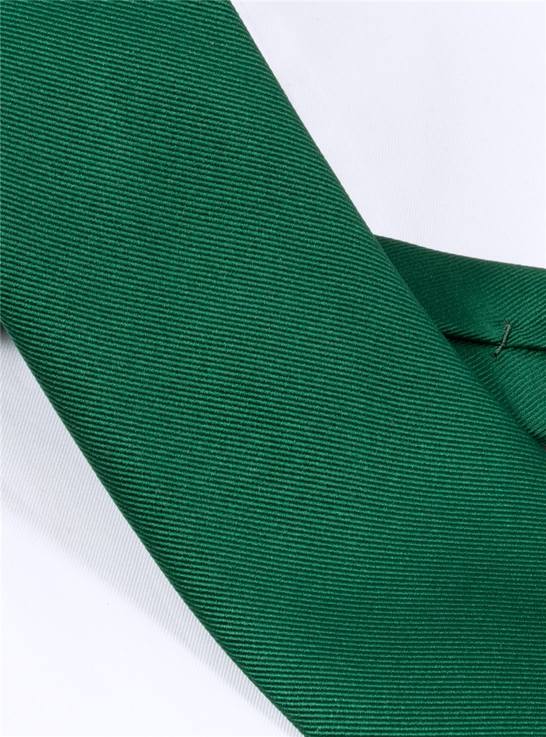 Silk Signature Solid Tie in Forest