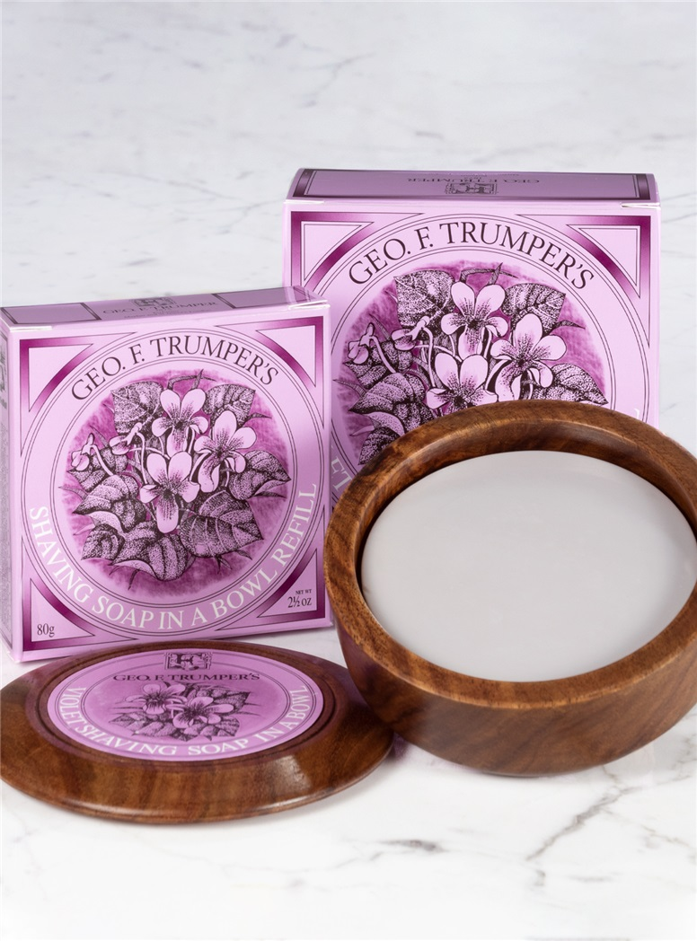 Violet Soap Wooden Bowl