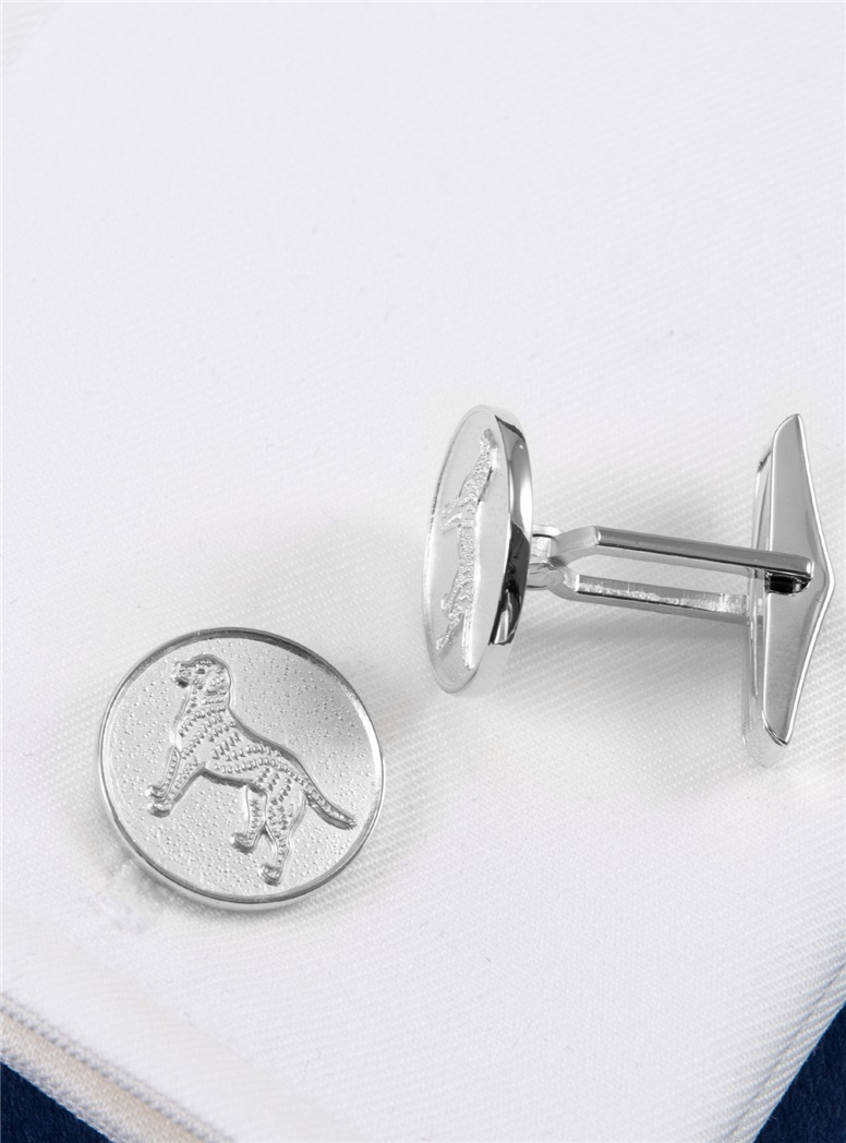 Retriever Cufflinks in Precious Metals