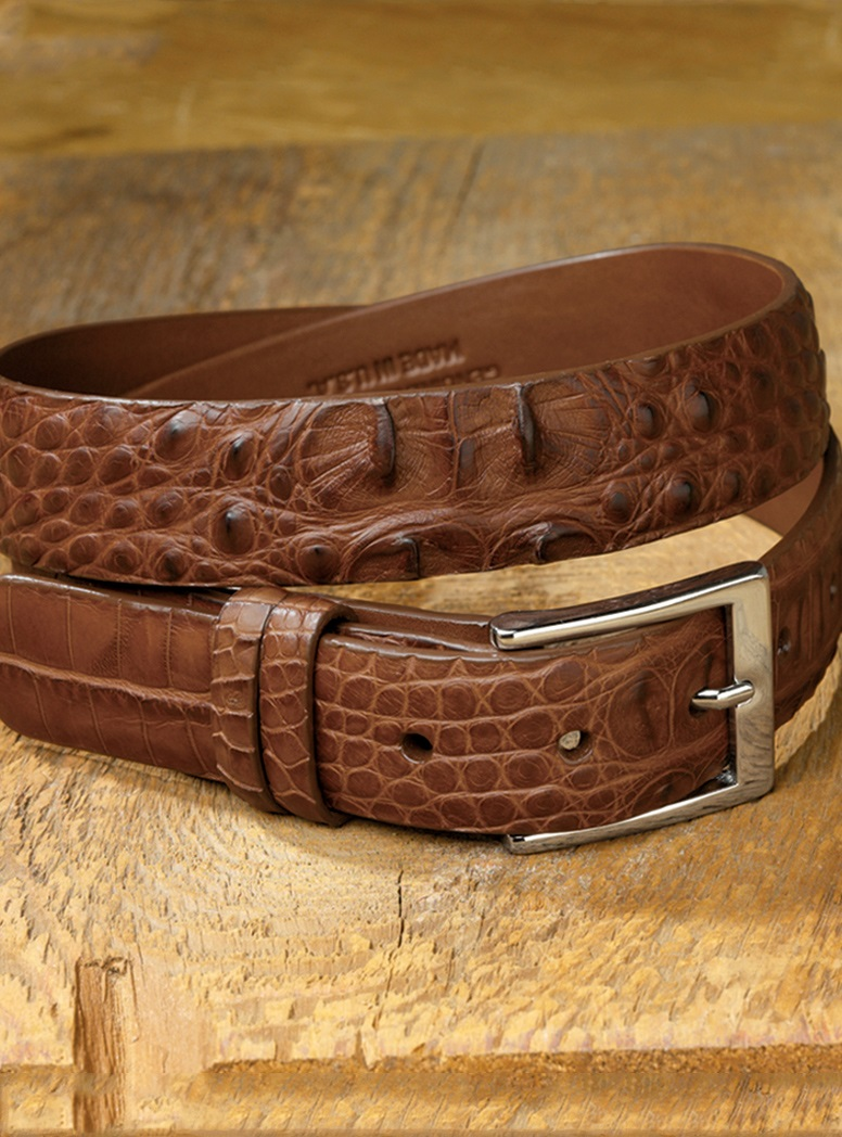 Hornback Belt in Cognac