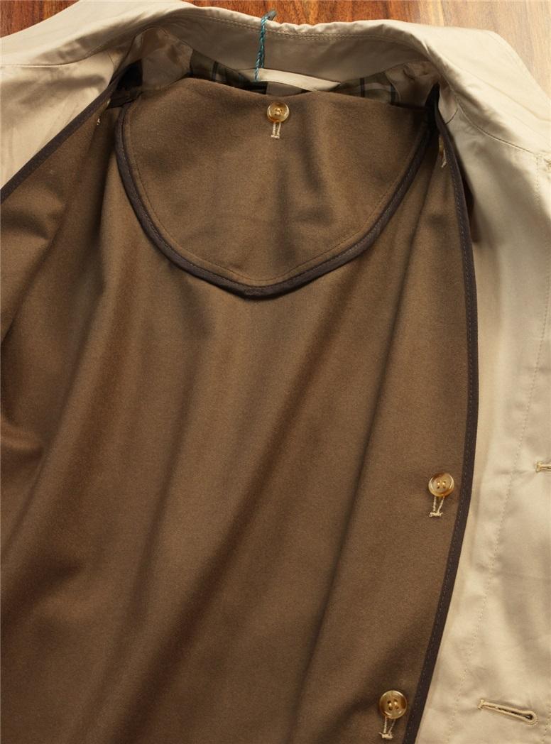 Cotton Khaki Top Coat