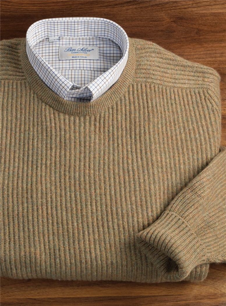 Cashmere Ribbed Round Neck Sweaters