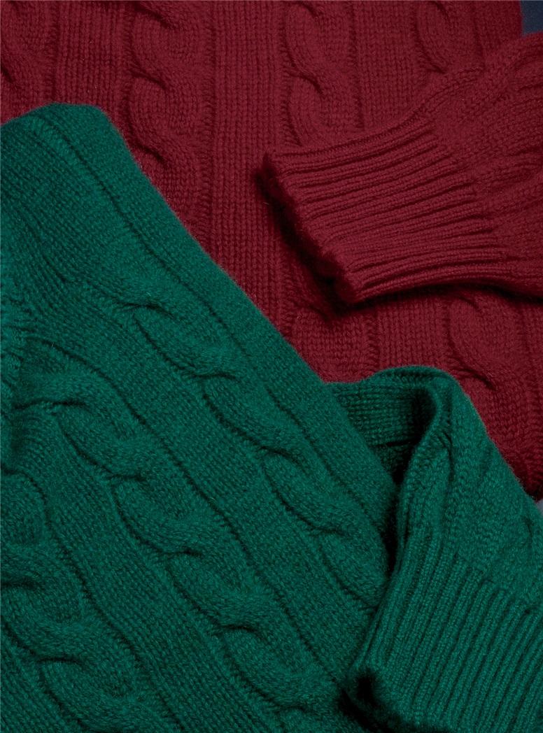 Cashmere Cable Crewneck Sweaters