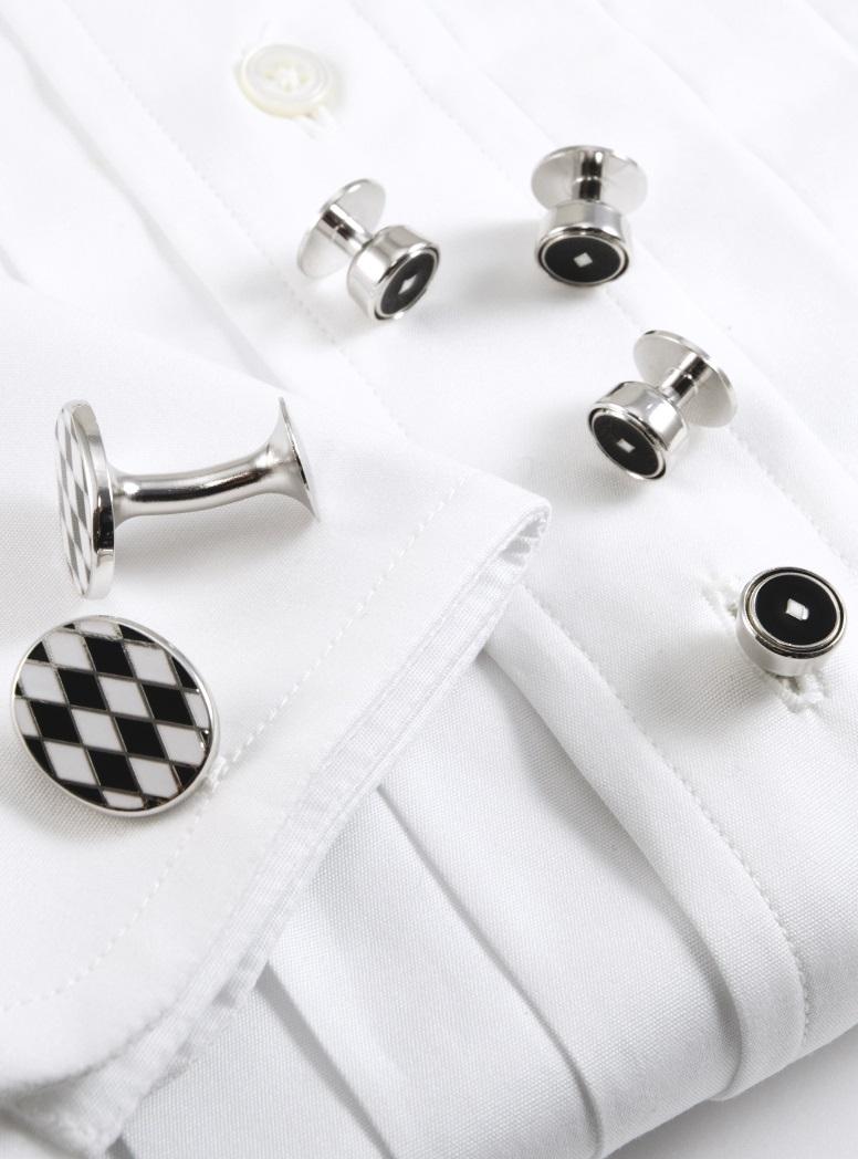 Black and White Diamonds Formal Wear Set