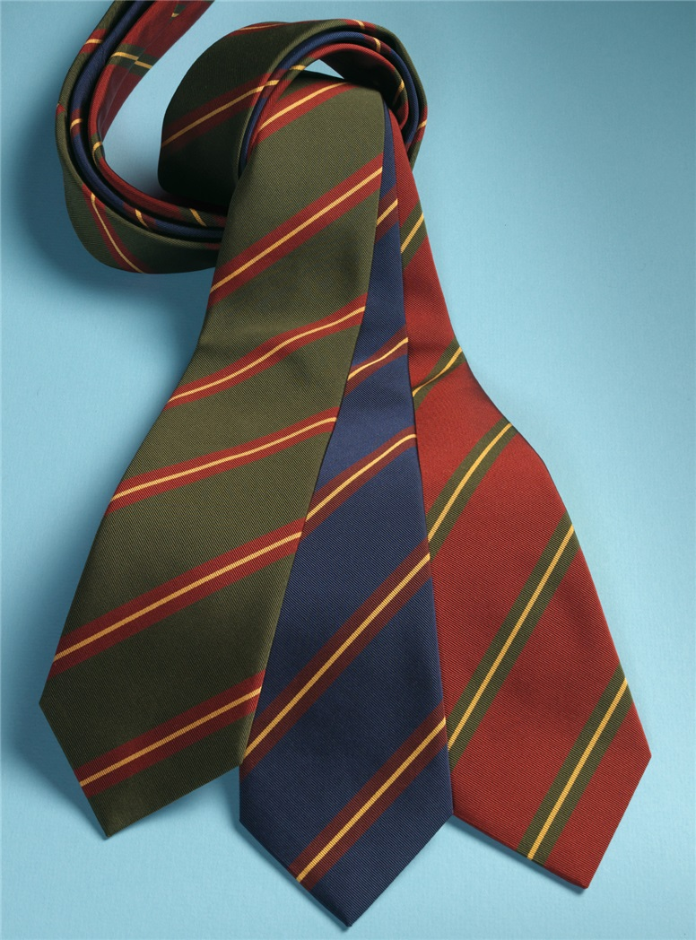 Mogador Silk Striped Tie in Fern