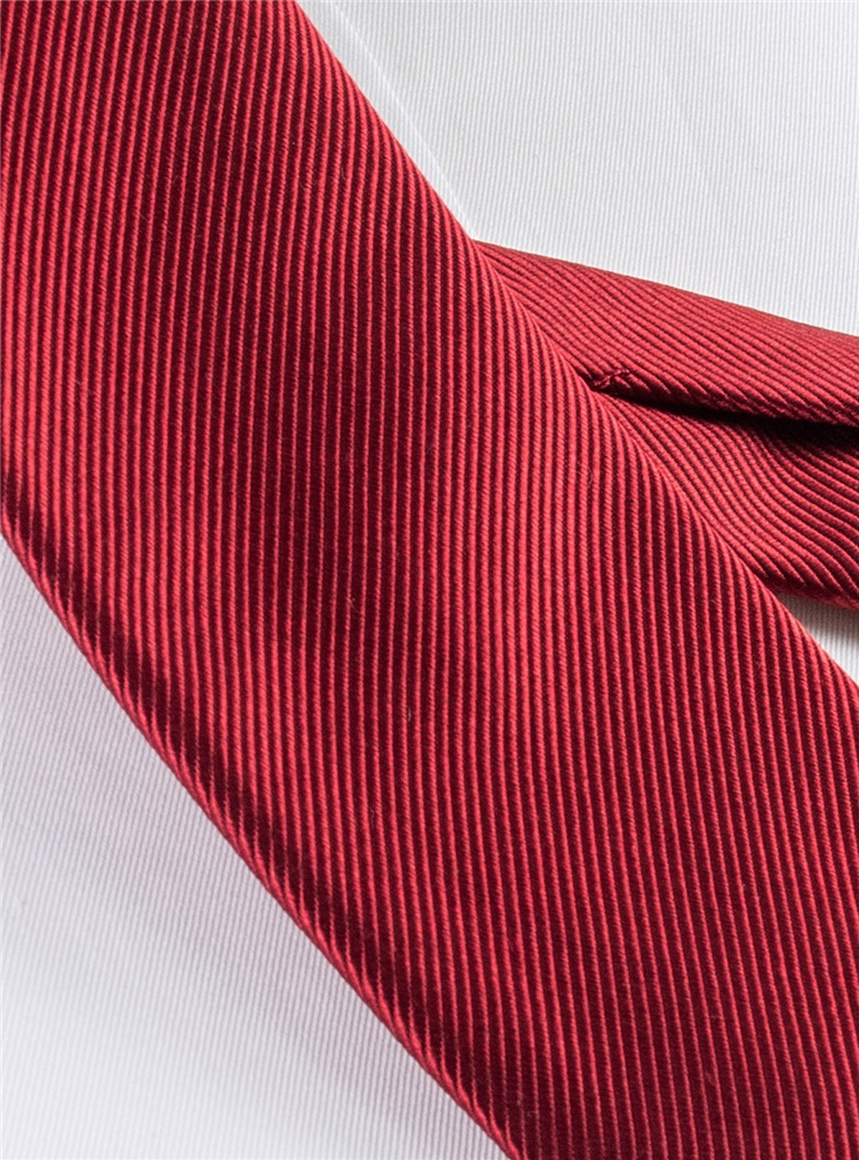 Mogador Silk Solid Signature Tie in Brick