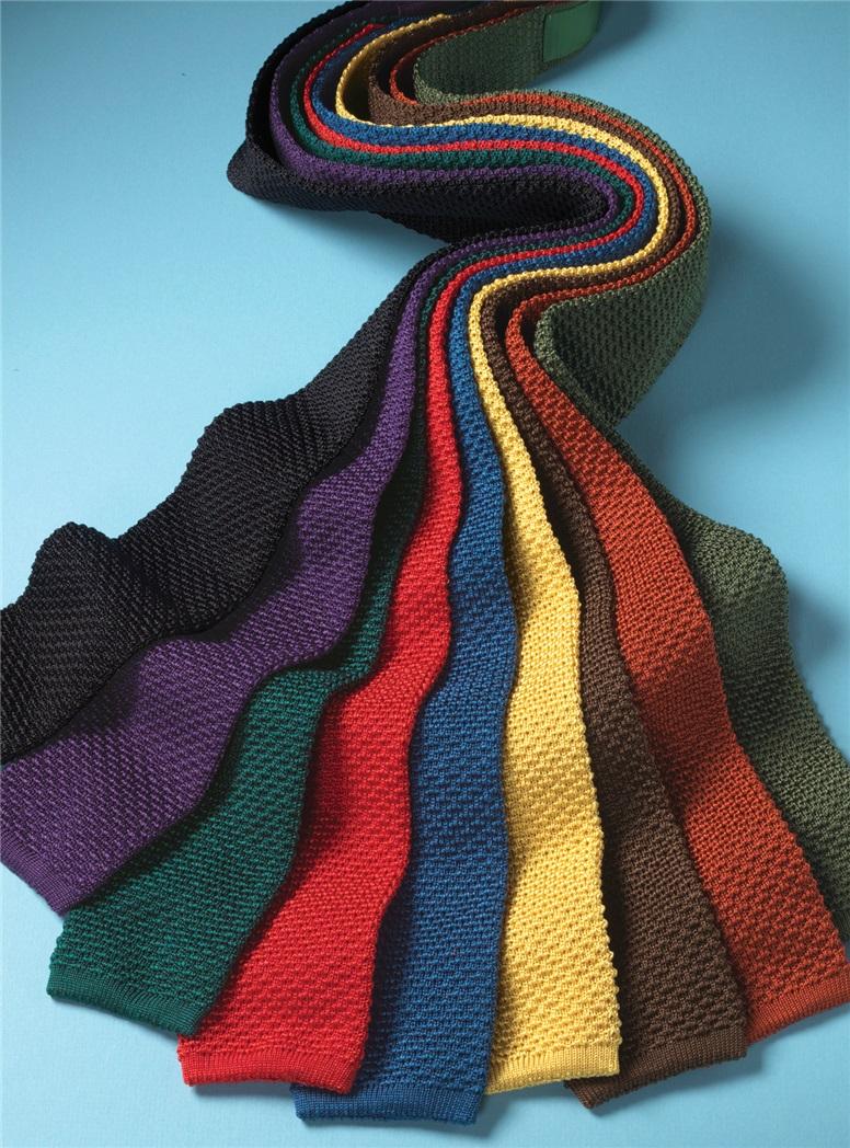 Classic Silk Knit Tie in Purple