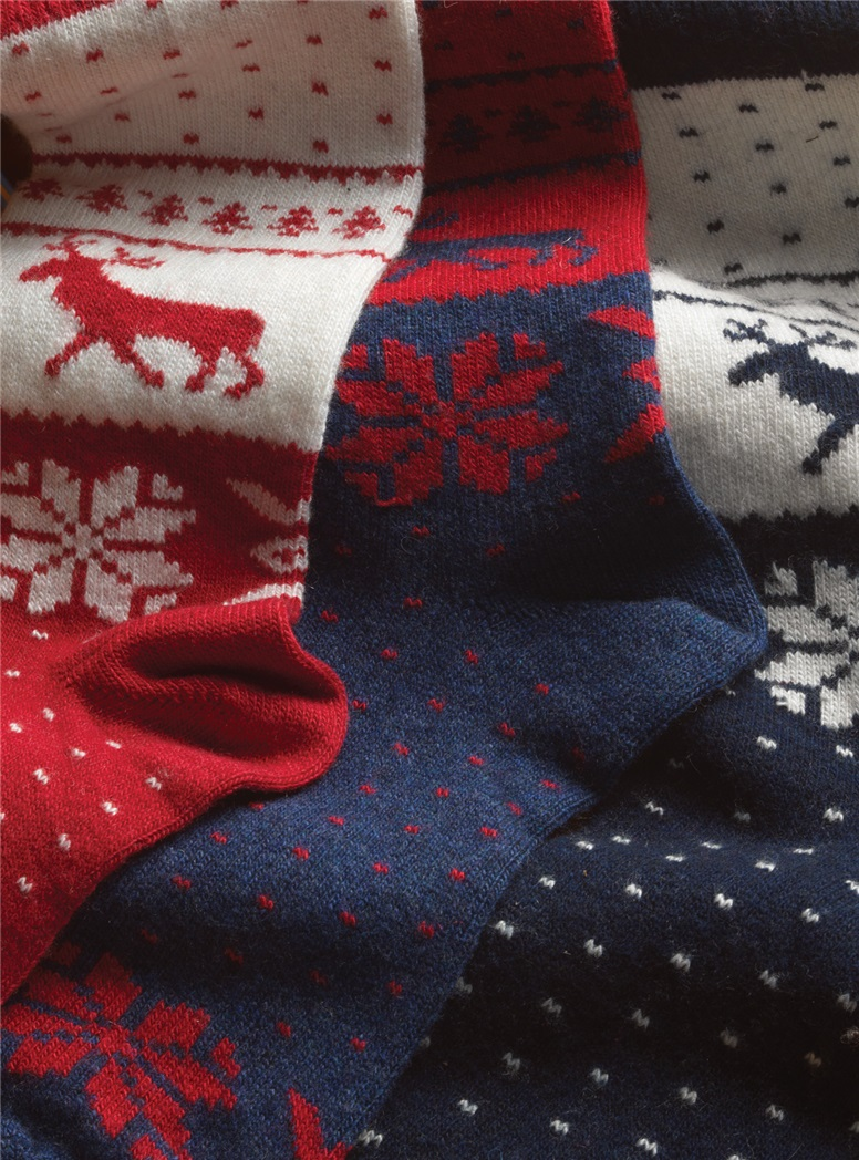 Cashmere Blend Moose Socks