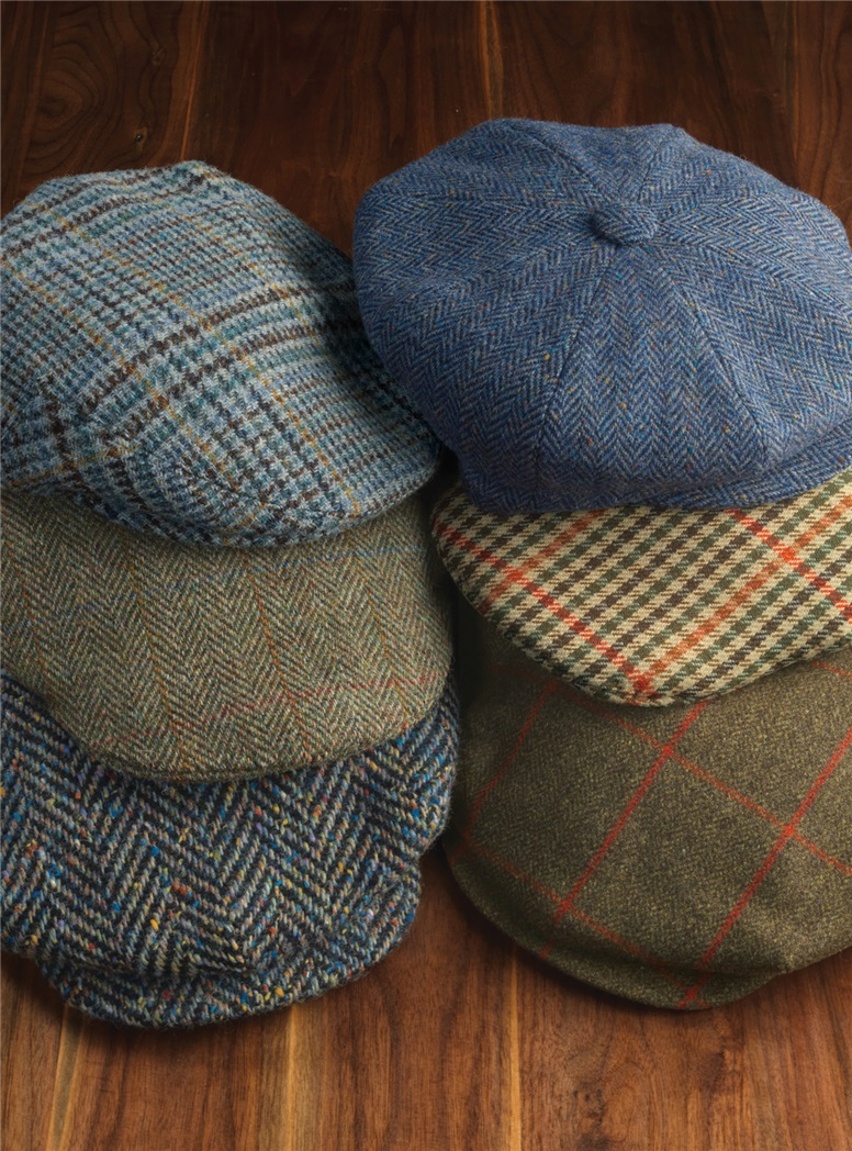 Wool Donegal Herringbone Turnberry Cap