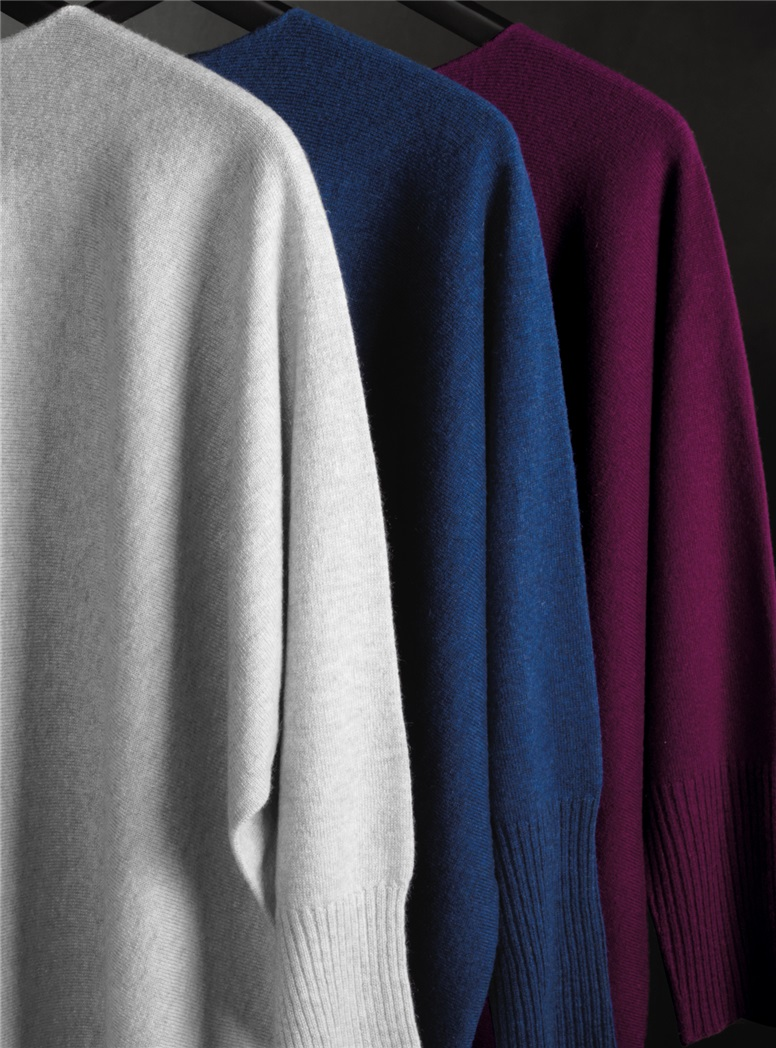 Ladies Cashmere Asymmetric Sweaters