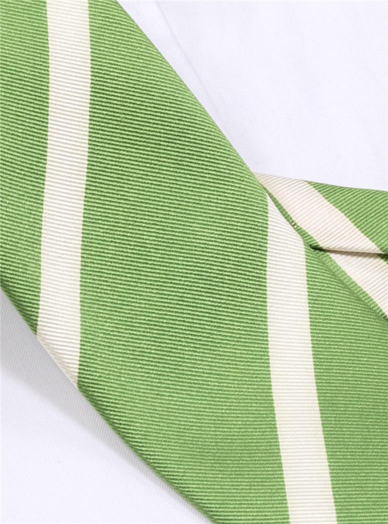 Mogador Bar Striped Tie in Sage