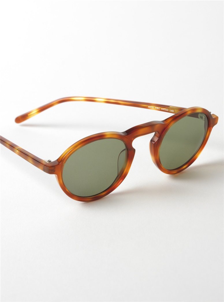 Small Round Sunglasses in Amber