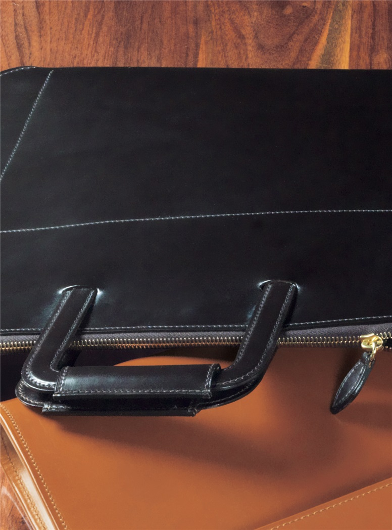 Document Case with Zip Closure in Havana