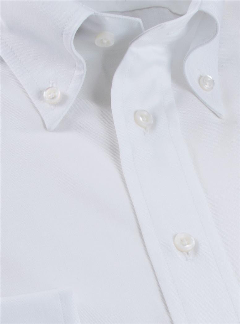 Classic White Twill Button Down