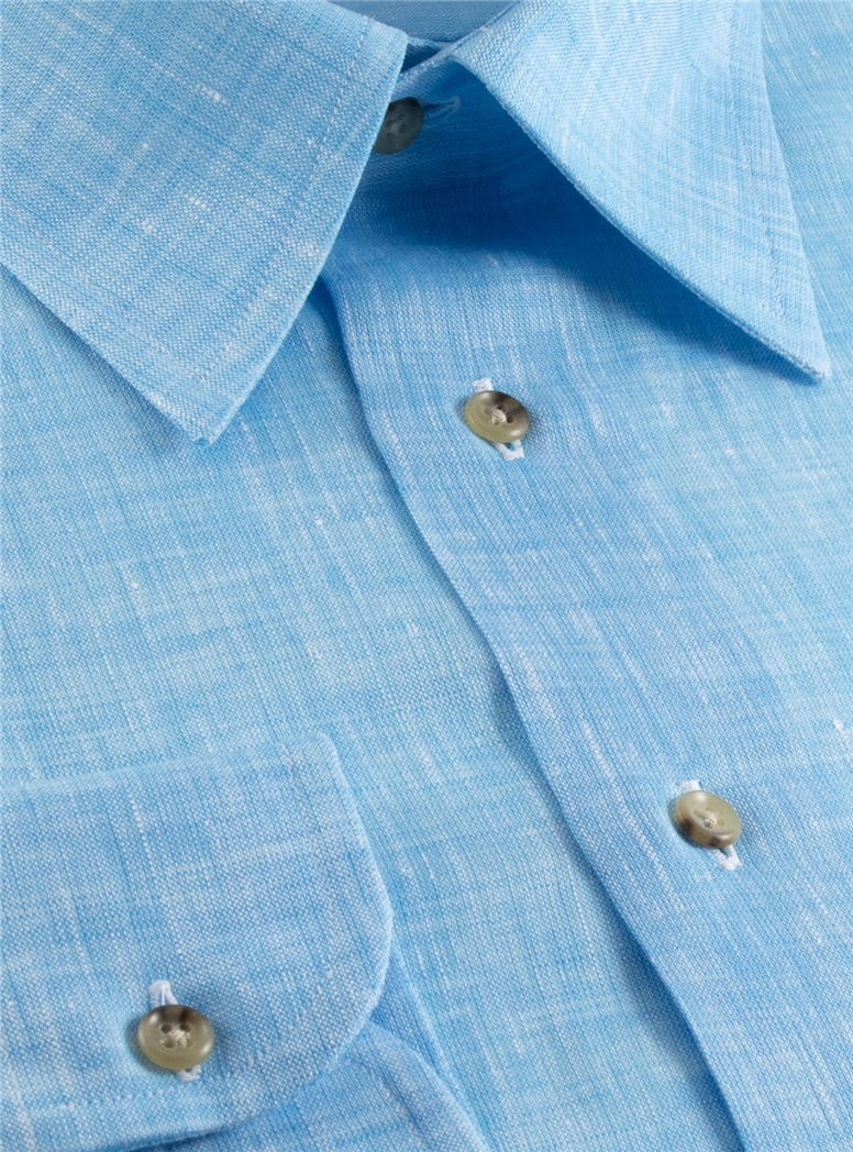 Blue Charleston Linen Shirt