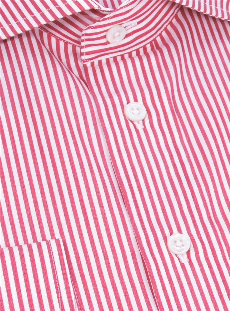 Red and White Stripe Cutaway