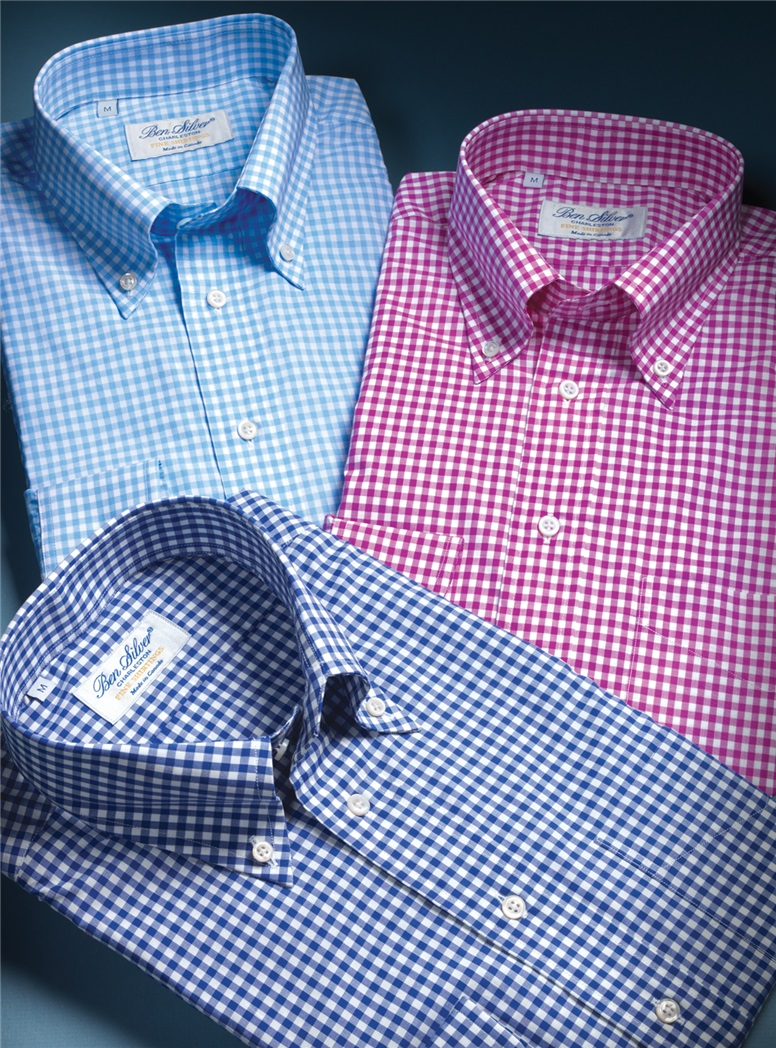 Royal Blue Gingham Button Down