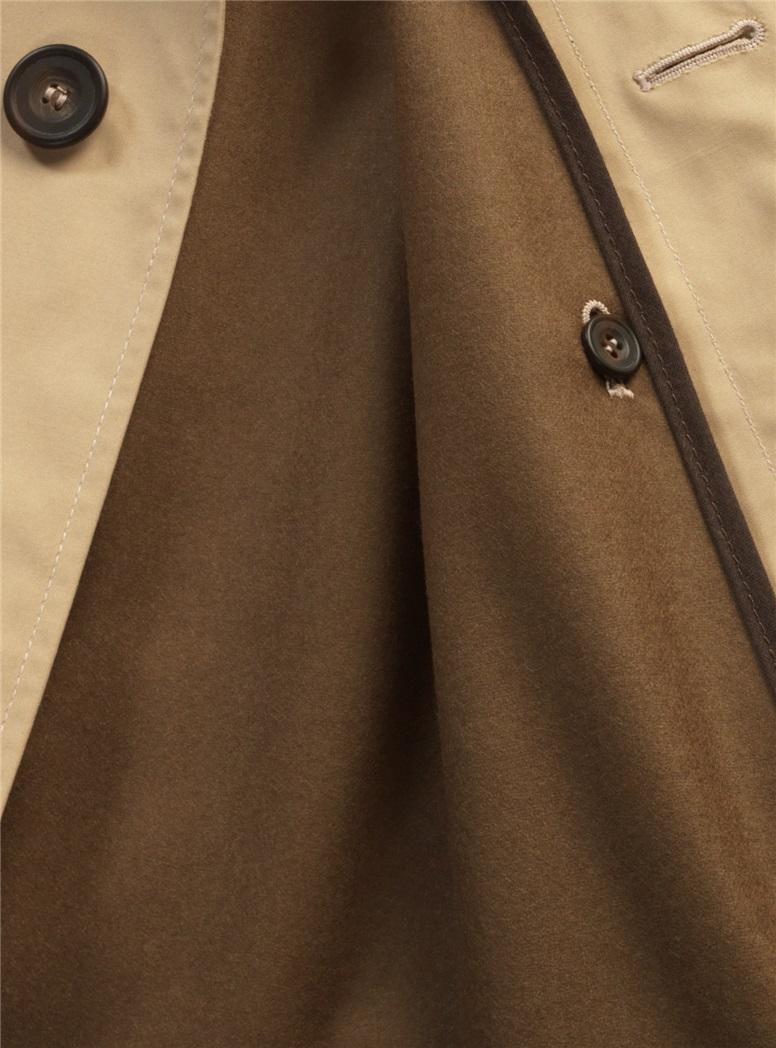 Cotton Top Coat in Khaki