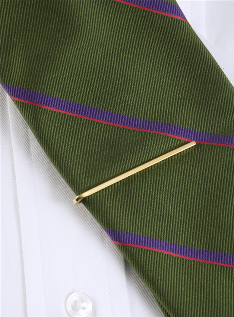 Yellow Gold Plated Tie Bar