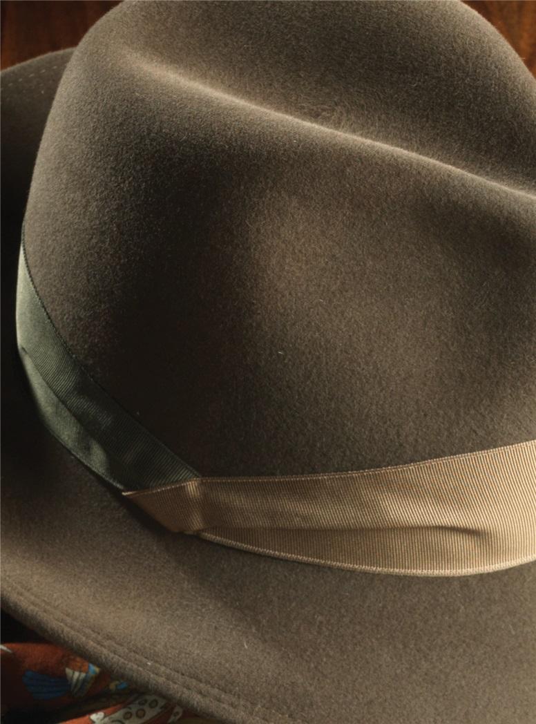 Felt Fedora Hat in Nutmeg