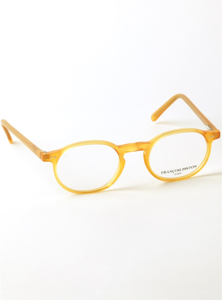 Nearly Oval Frame in Golden Yellow