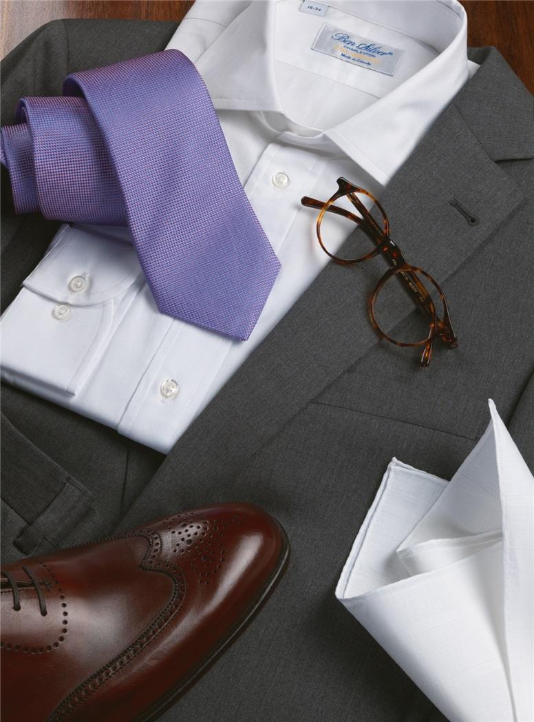 Medium Grey Suit in Super 100s Wool