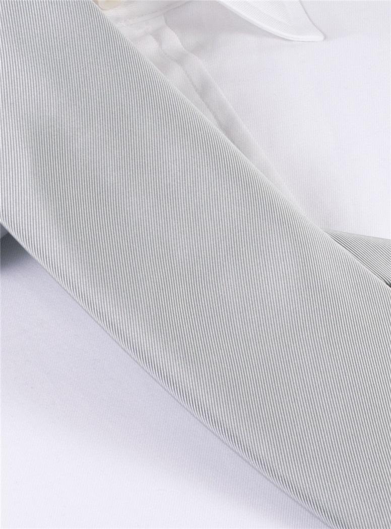 Mogador Silk Solid Signature Tie in Cloud