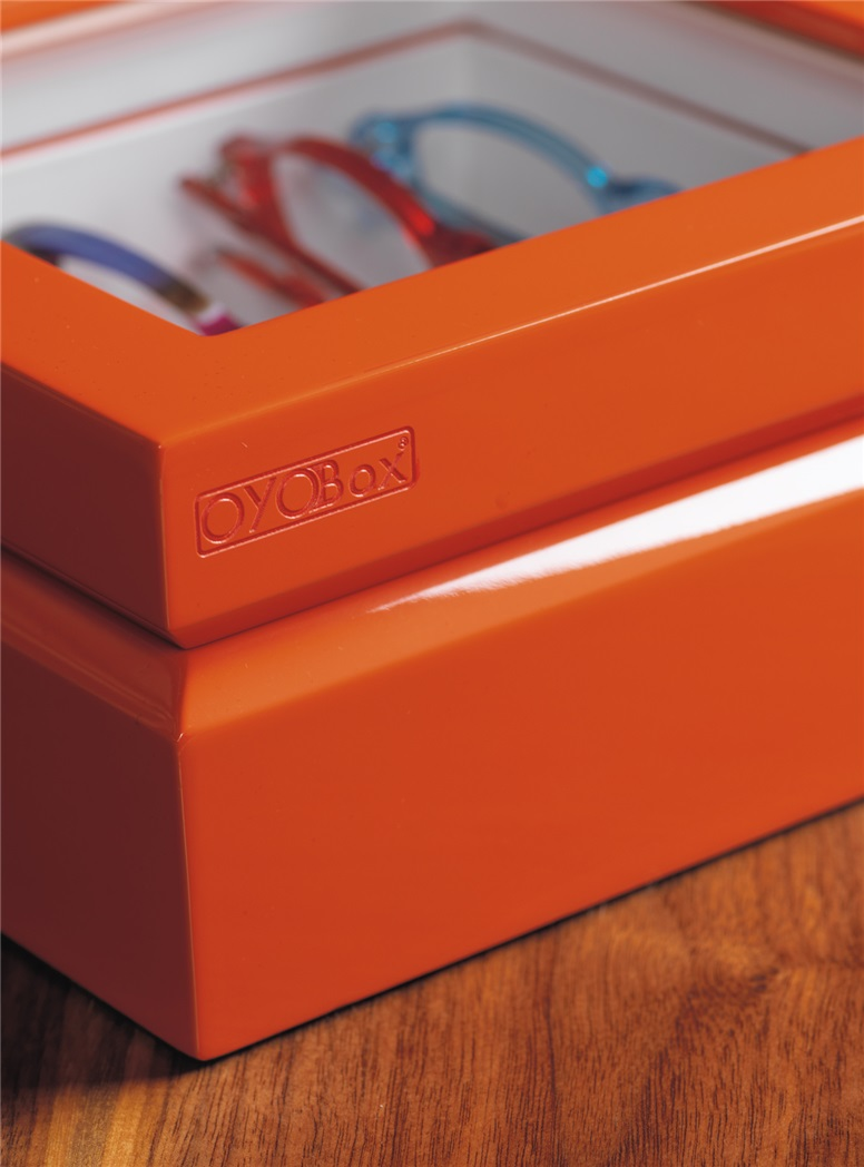 Smaller Eyewear Chest in Orange