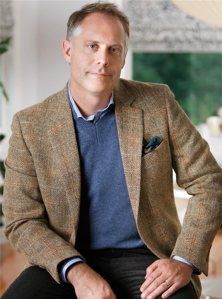 Brown Herringbone Harris Tweed Sport Coat with Multi-Colored Windowpane