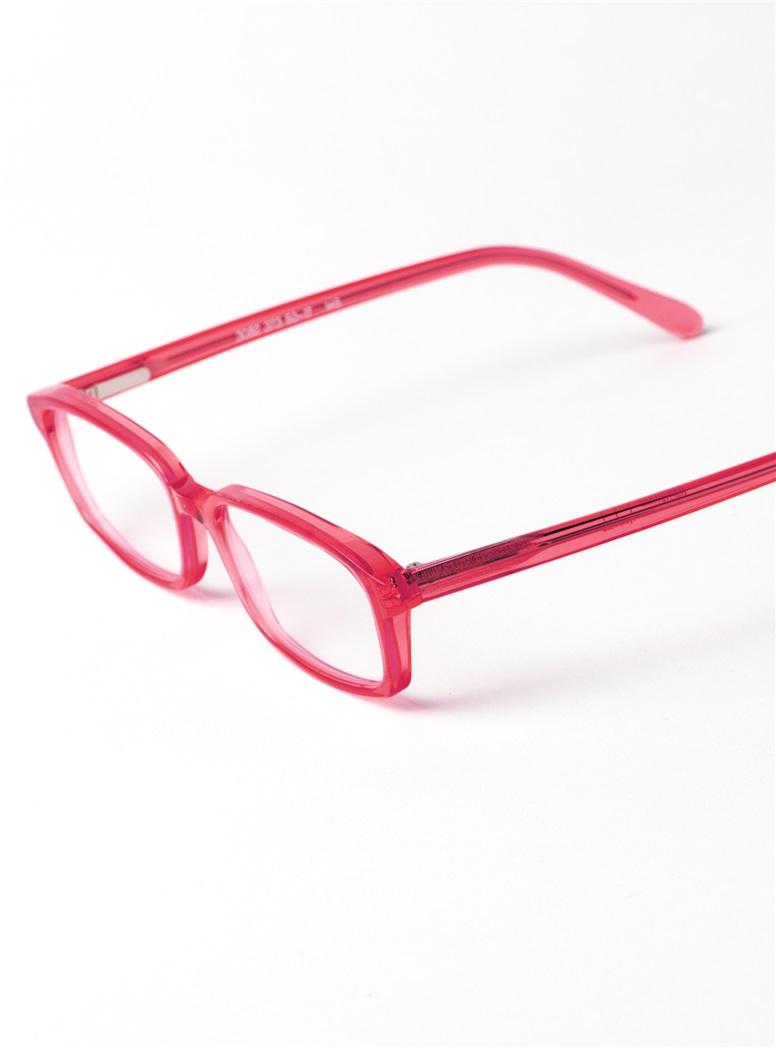 Slim Rectangular Frame in Red