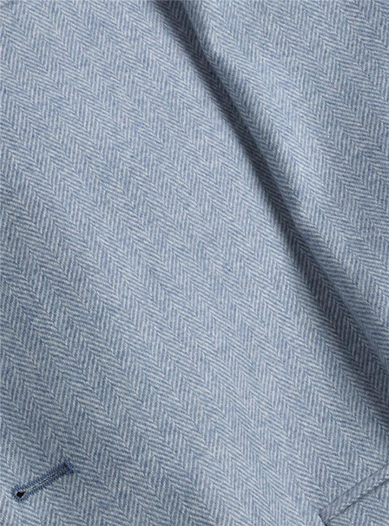 Blue Herringbone Sport Coat