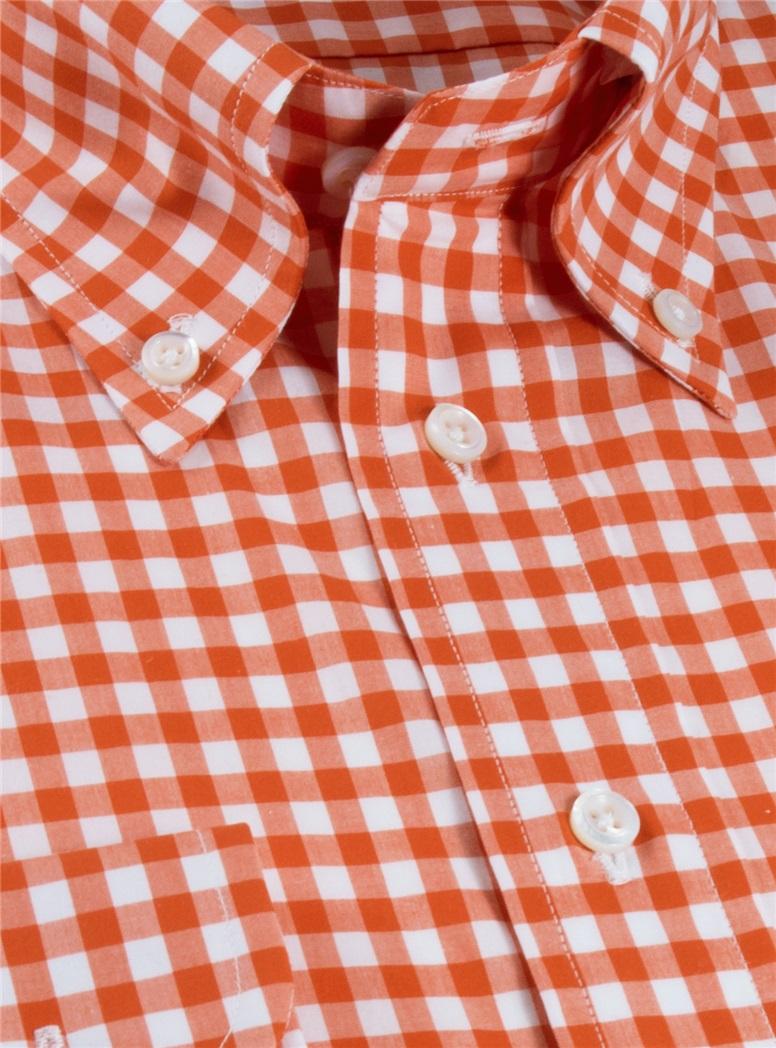 Orange Gingham Shirt