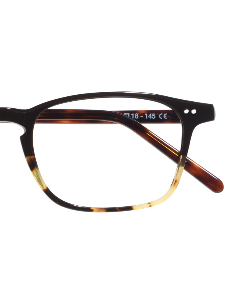 Slim Rectangular Frame in Chocolate with Dark Tortoise