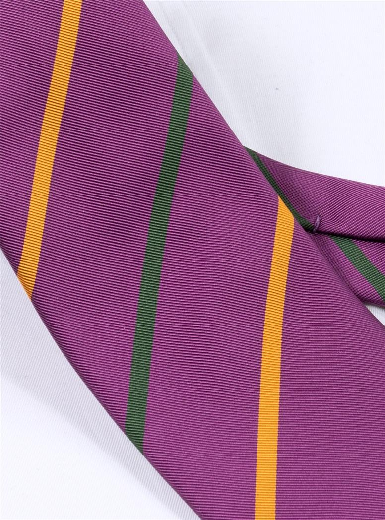 Mogador Striped Tie in Magenta