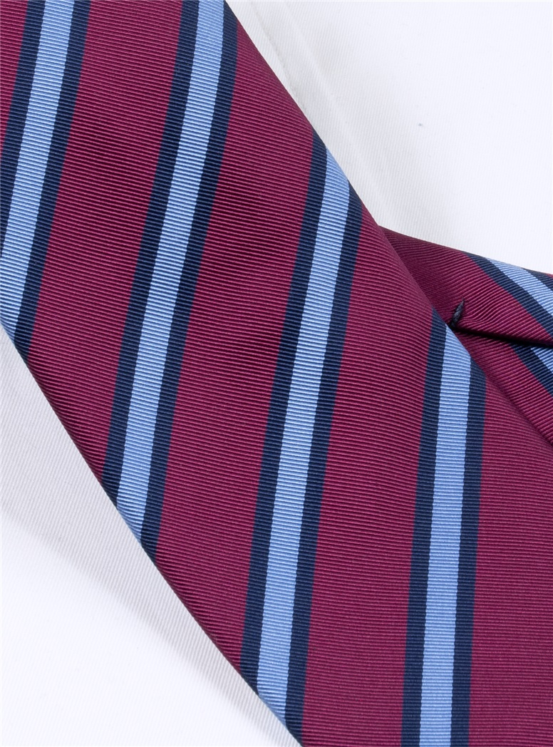 Mogador Striped Tie in Magenta